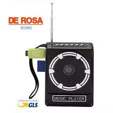 CASSA AMPLIFICATORE RADIO PORTATILE LETTORE STEREO MP3 FM SD CARD USB