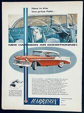 Original Vintage Chevrolet 1956 Harrison Air Conditioning Ad