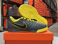 Nike Junior Legend 7 Academy IC Shoes (Grey/Black/Yellow) Size: 11.5c-6y NEW!