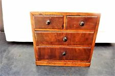 Aprentice piece, mahogany chest of draws