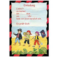 Einladungen Schatzsuche/Pirat, Kindergeburtstag, Mottoparty, mit Umschlag