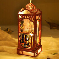 Hanging Miniature Doll Houses Wooden Furniture Kits DIY Lights For Kids Gifts US