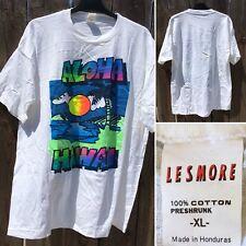 Aloha Hawaii Neon Graphics Tee T-Shirt XL Lesmore