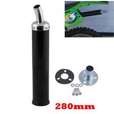 2 Stroke Silencer Exhaust Muffler Adapter Kit Black For Motorcycle Dirt Bike ATV