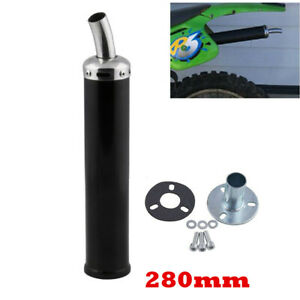 2 Stroke Silencer Exhaust Muffler Adapter Kit Black For Motorcycle Dirt Bike ATV
