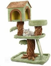 MultiLevel Cat Tree House Condo Furniture Stand with Scratching Pads Play House
