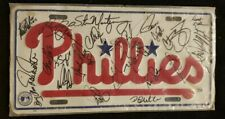 Philadelphia Phillies License Plate Signed By 1999 Team Autograph