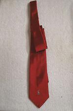 POLO Ralph Lauren 100% Silk Tie - Red Handmade in Italy MSRP $125