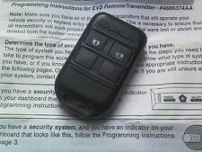 GENUINE CODE ALARM CHRYSLER,MIT,MER,FIAT,BMW ETC(433MHz)4BTN REMOTE KEY FOB+CODE