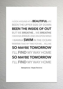Stereophonics - Maybe Tomorrow - Colour Print Poster Art