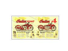 "1929 Indian Motorcycle Sales Brochure, 36"" x 18"" Poster, JG-3119, Jerry Greer's"