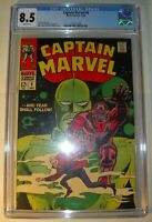 Captain Marvel #8 CGC 8.5 VF+ 1968, Silver Age, Don Heck art, Gene Colan cover