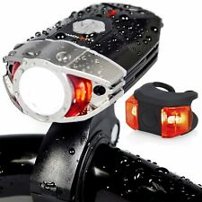 Bike Light Set Rechargeable Galaxy 400 Lumens LED Bicycle Head and Tail Lights