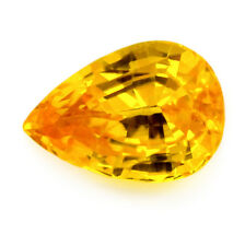 Certified Natural Ceylon Golden Yellow Sapphire 1.06 ct VVS Clarity Sri Lanka