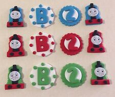 12  Edible THOMAS THE TANK train & friends CUPCAKE cake toppers Number & Lettter