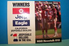 Vintage San Francisco 49ers  1991 Game Schedule SF Forty Niners Game schedule