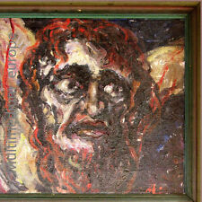 Gemälde Jesus Christus am Kreuz signiert Aksel Lundgaard Leinwand Keilrahmen