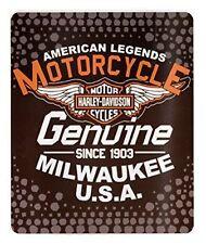 Harley Davidson American Legend Design Lightweight 50x60 Fleece Throw Blanket