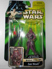 Star Wars 2001 AOTC Sneak Preview Zam Wesell Bounty Hunter ~ New Misp