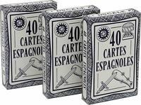 Jeu de 40 cartes : Ducale Espagnoles – lot de 3 France Carte