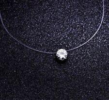 Choker pendant diamante CZ ladies girls top costume fashion jewellery gift UK