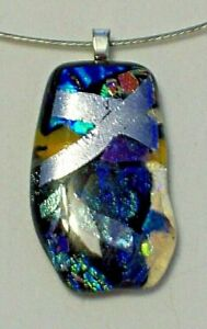 Dichroic Fused Glass Necklace