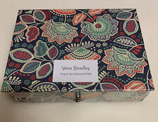 New Vera Bradley Thank You Note Card Set in Nomadic Floral, Set of 10 n Gift Box