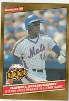 FREE SHIPPING-MINT-1986 Donruss Highlights Darryl Strawberry New York Mets 24