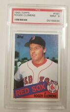 1985 Topps Roger Clemens Rookie PSA 9 MINT! Boston Red Sox, Card #181