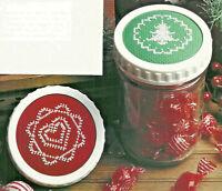 Christmas Holiday Jar Lids Cross Stitch Patterns Charts from magazine Heart Tree