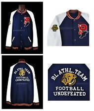 Polo Ralph Lauren Letterman Varsity Jacket Men's Size 2XL Navy/White NWT $268