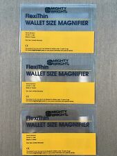3 Mighty Bright 37701 FlexiThin Magnifier Magnify Bookmarks WALLET SIZE  New