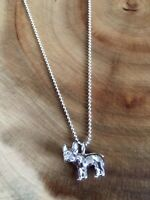 925 Sterling Silver French Bulldog Dog Pendant Necklace