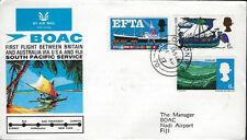 AVIATION :1967 B.O.A.C. First South Pacific Flight -London-Fiji