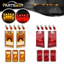 10xAmber/Red Lens Cab Marker Roof Running Top Lights w/Bulbs for 03-09 Hummer H2