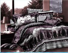 100% Cotton 3D Bedding Set Queen Size Wolf 4 PCS Bed Sets Pillow Cover Piece 006