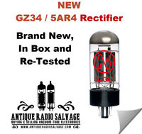 (1x) NEW 5AR4  GZ34 JJ / Tesla Rectifier Vacuum Tube - Tested and Guaranteed