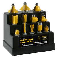 Pro-Series PS07426 12 Piece Router Bit Set - Carbon Tipped