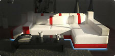 Ecksofa Sofa Couch Polster Wohnlandschaft Leder Eck Sofas Garnitur L Form Atlas