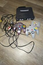 Nintendo N64 system with two (2) controllers Mario kart  game combo