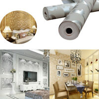 High Quality European Luxury Damask Wall paper Embossed Textured Wallpaper Roll