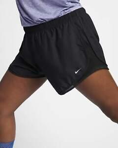 NIKE Women Tempo Running Shorts Plus Size Black White - Women Sz 2X