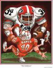 Georgia Bulldogs Football Herschel Walker (4) print artwork lot UGA Dave Helwig