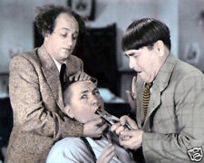 "THE THREE STOOGES VAUDEVILLE & MOVIE STAR ACTORS 8x10"" HAND COLOR TINTED PHOTO"