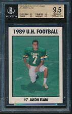 1989 University of Hawaii #7 Jason Elam BGS 9.5 Rare low pop