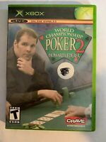 WORLD CHAMPIONSHIP POKER 2 - XBOX - COMPLETE W/ MANUAL - FREE S/H - (T8)