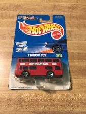 Hot Wheels London Bus #95512 New in Package 1996 Red 3+ 1:64