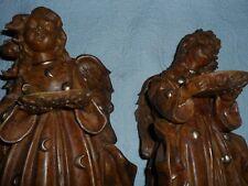 "Angel figures (2)  Wood Like,  16"" H"