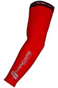 Hincapie Sportswear Arenberg Super Roubaix Cycling Running Arm Warmers Red SM