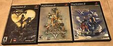 Kingdom Hearts Trilogy Complete Black Label PlayStation 2 I II Chain of Memories